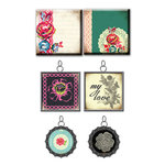 Prima - Rosarian Collection - Vintage Trinkets - Art Tiles and Metal Embellishments