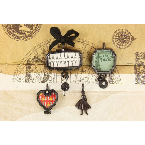 Prima - Welcome to Paris Collection - Trinkets - Metal Embellishments