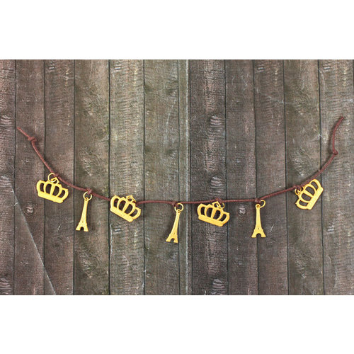 Prima - Be-Charmed Collection - String Embellishments - Metal Crown and Tower