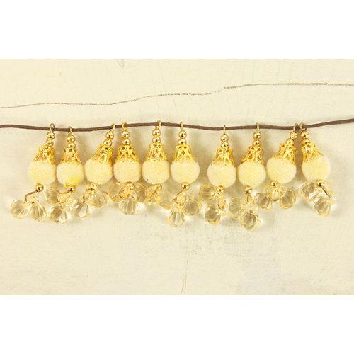 Prima - Tea-Thyme Collection - Bauble Trinkets - Velvet Embellishments