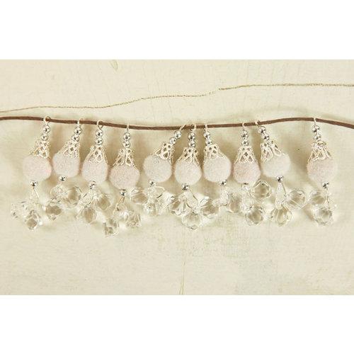 Prima - Zephyr Collection - Bauble Trinkets - Velvet Embellishments