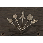 Prima - Welcome to Paris Collection - Metal Embellishments - Pins