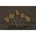 Prima - Rosarian Collection - Metal Embellishments - Pins