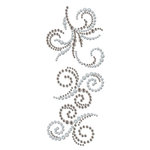 Prima - Say It In Crystals and Pearls Collection - Self Adhesive Jewel Art - Bling - Swirl - Craftsman