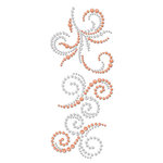 Prima - Say It In Crystals and Pearls Collection - Self Adhesive Jewel Art - Bling - Swirl - Tea-Thyme