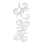 Prima - Say It In Crystals and Pearls Collection - Self Adhesive Jewel Art - Bling - Swirl - Zephyr