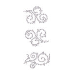 Prima - Say It In Crystals Collection - Self Adhesive Jewel Art - Bling - Swirl - Zephyr