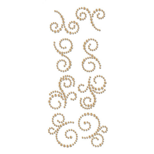 Prima - Say It In Crystals Collection - Self Adhesive Jewel Art - Bling - Mini Swirls - Rondelle
