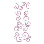 Prima - Say It In Crystals Collection - Self Adhesive Jewel Art - Bling - Mini Swirls - Rosarian