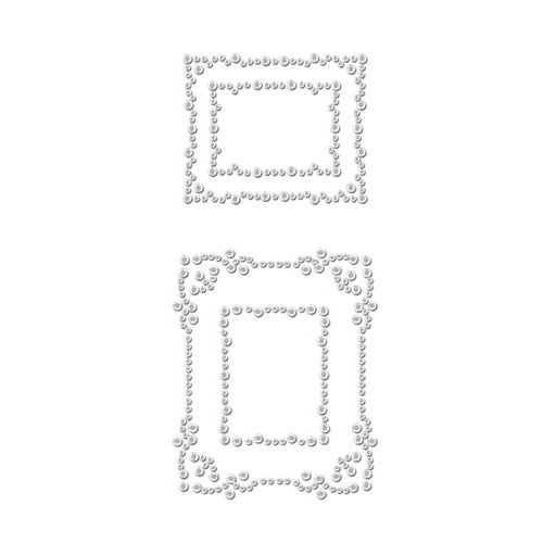 Prima - Say It In Crystals Collection - Self Adhesive Jewel Art - Bling - Frame 1