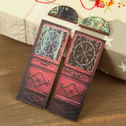 Prima - Wood Embellishments - Doors - Set 3
