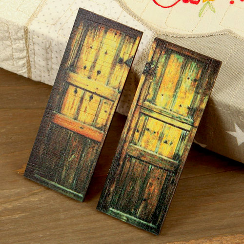 Prima - Wood Embellishments - Doors - Set 5