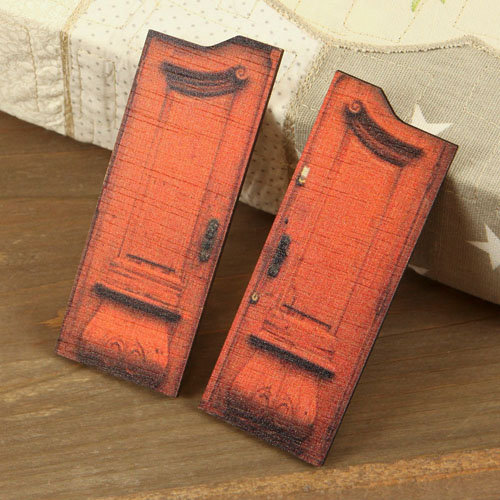 Prima - Wood Embellishments - Doors - Set 6