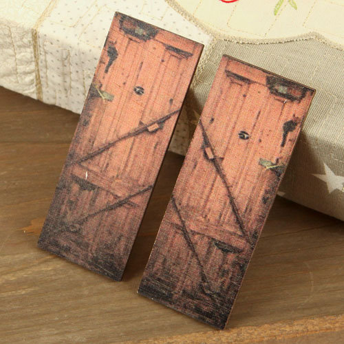Prima - Wood Embellishments - Doors - Set 7