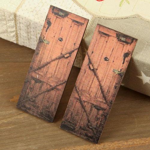 Prima - Wood Embellishments - Doors - Set 7