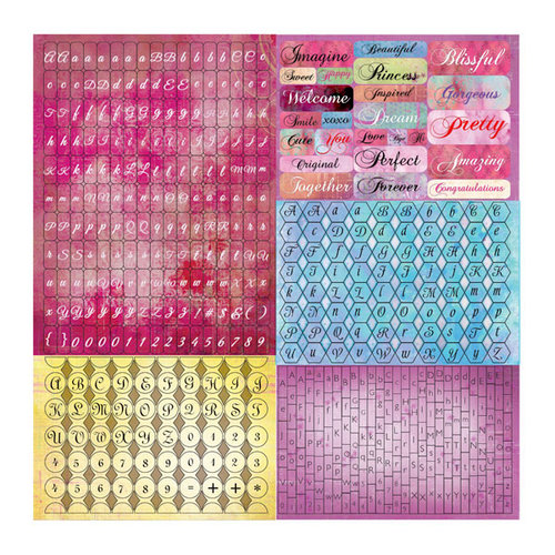 Prima - Firefly Collection - Cardstock Stickers - Tiny Alphabets
