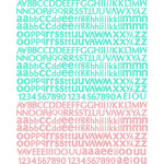 Prima - Firefly Collection - Textured Stickers - Alphabet