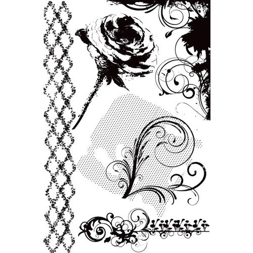 Prima - Firefly Collection - Cling Mounted Rubber Stamps