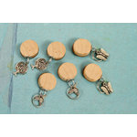 Prima - Vintage Trinkets - Wood Dangles with Charms