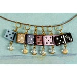 Prima - Vintage Trinkets - Domino Dangles with Beads