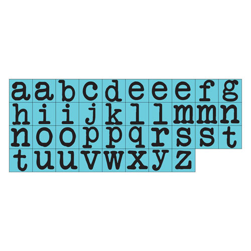 Prima - Prima Press - Rubber Mounted Stamps - Alphabet - Set 2