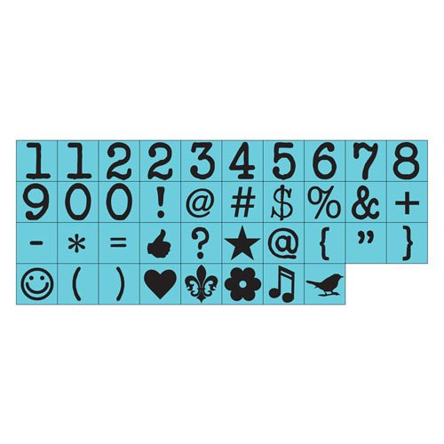 Prima - Prima Press - Rubber Mounted Stamps - Alphabet - Numbers and Dingbat