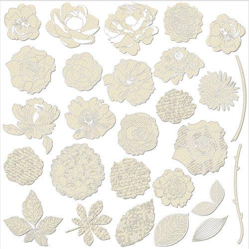Prima - Resist Canvas - Shapes - Flowers