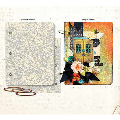Prima - Mixed Media Album - Book Covers - Two