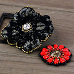 Prima - Taos Collection - Bead and Fabric Flower Embellishments - Welcome to Paris