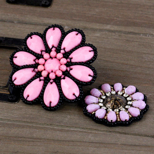 Prima - Taos Collection - Bead and Fabric Flower Embellishments - Rondelle