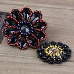 Prima - Taos Collection - Bead and Fabric Flower Embellishments - Romance Novel