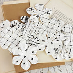 Prima - Puccini Collection - Resist Flower Embellishments - Mix 3