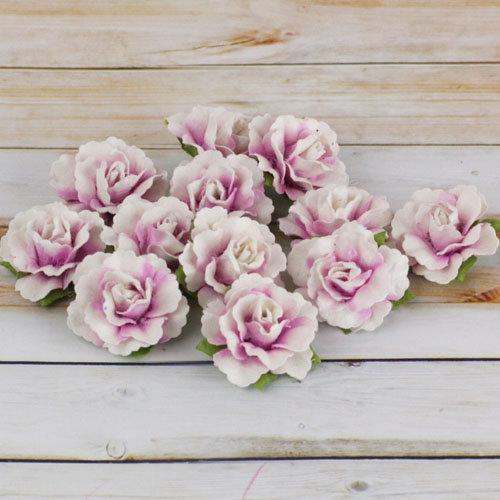 Prima - Encore Collection - Paper Flower Embellishments - Lavender