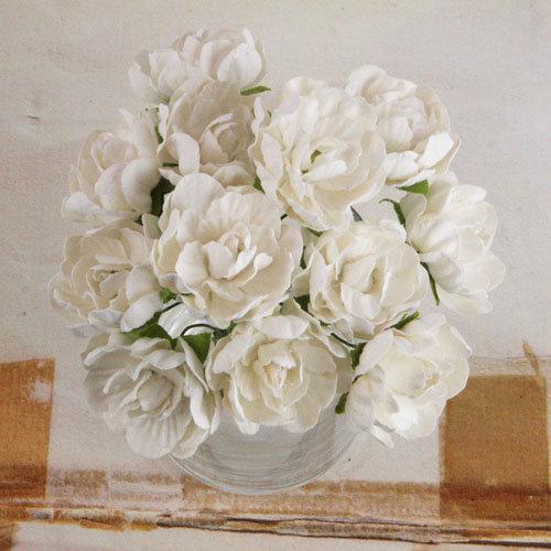 Prima - Serenade Collection - Flower Embellishments - White