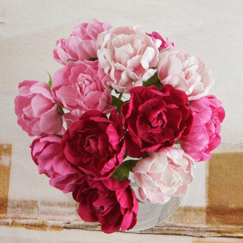 Prima - Serenade Collection - Flower Embellishments - Pink