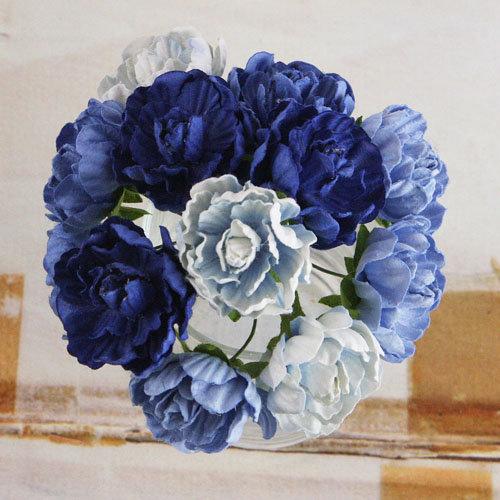 Prima - Serenade Collection - Flower Embellishments - Blue