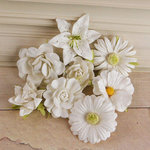Prima - Soubrette Collection - Flower Embellishments - White