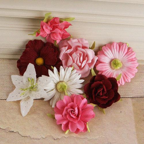 Prima - Soubrette Collection - Flower Embellishments - Pinks