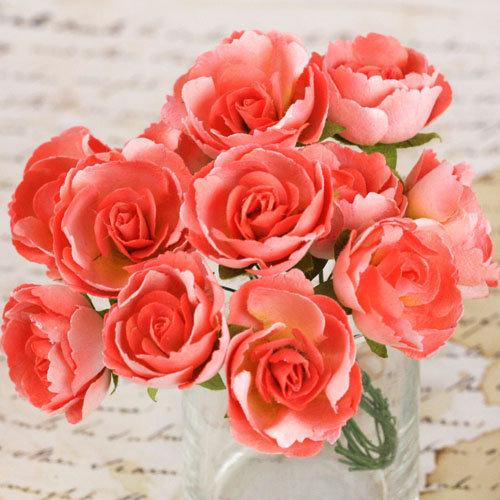 Prima - Soprano Collection - Flower Embellishments - Coral