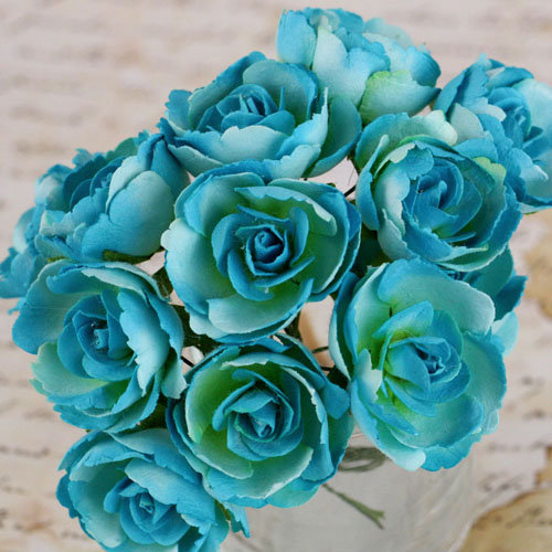 Prima - Soprano Collection - Flower Embellishments - Aqua