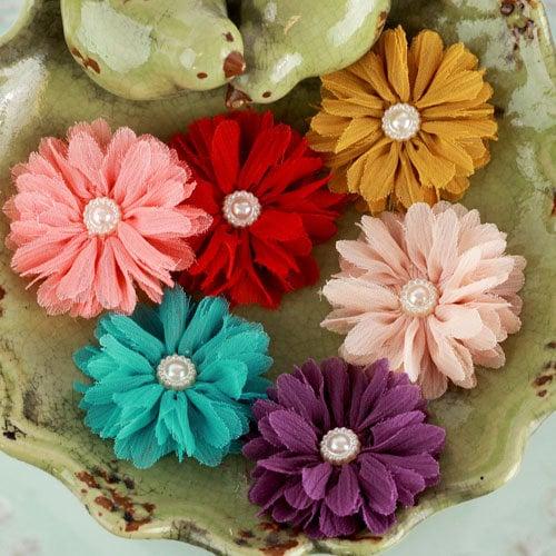 Prima - Cabaletta Collection - Fabric Flower Embellishments - Summer 2
