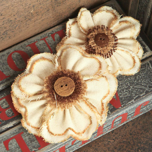 Prima - Fabric Flower Embellishments - Cassie