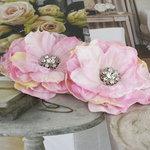 Prima - Bravo Collection - Fabric Flower Embellishments - Pink
