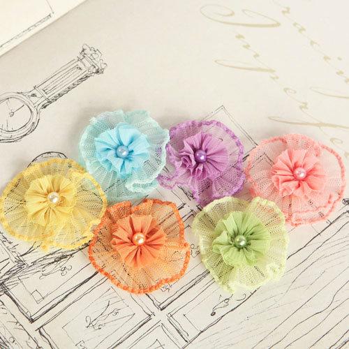 Prima - Vibrato Collection - Fabric Flower Embellishments - Mix 1