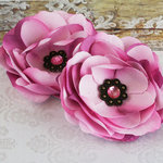 Prima - Aria Collection - Fabric Flower Embellishments - Purple