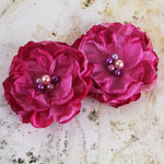 Prima - Banda Collection - Fabric Flower Embellishments - Pink