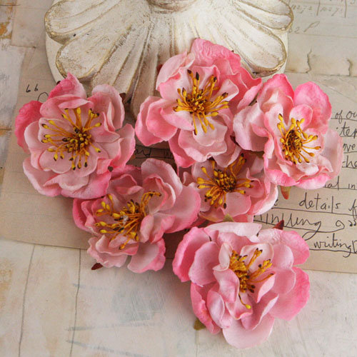 Prima - Bel Canto Collection - Fabric Flower Embellishments - Pink