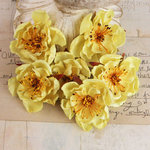 Prima - Bel Canto Collection - Fabric Flower Embellishments - Yellow