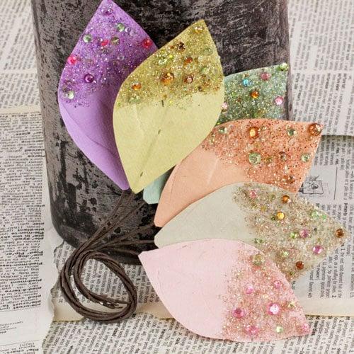 Prima - Spotlight Collection - Leaves Embellishments - Pastel