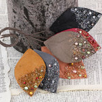 Prima - Spotlight Collection - Leaves Embellishments - Midnight